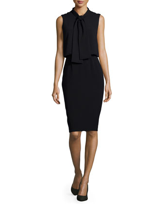Vivica Tie-Neck Combo Dress