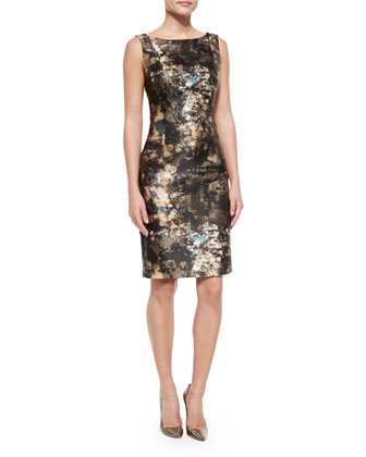 Faith Sleeveless Printed Sheath Dress