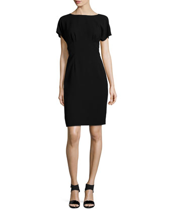 Marion Short-Sleeve Sheath Dress