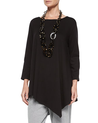 Solid Asymmetric Long Tunic