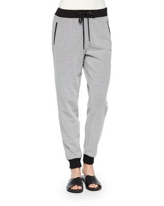 Two-Tone Jog Pants, Women's