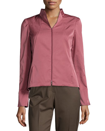 Amia Sateen Two-Zip Jacket