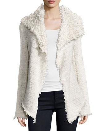 Loop Knit Drapey Jacket, Swan