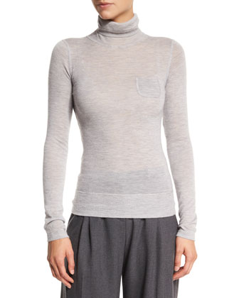 Delfina Turtleneck Cashmere Sweater