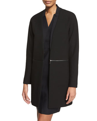Adiano Long Coat W/ Zip-Off Hem, Vernon Sleeveless Dress & Petunia Cashmere ...
