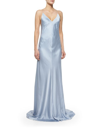Sleeveless Cami Gown, Glacier