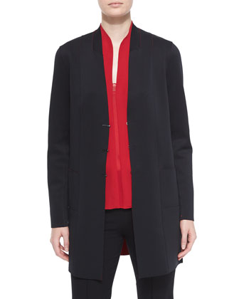 Vivia Reversible Jacket & Judith Asymmetric-Back Blouse