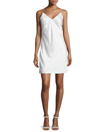 Sleeveless V-Neck Cami Dress, Ivory