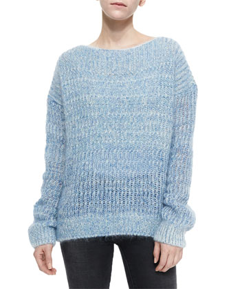 Fisherman's Pullover Sweater, Sky