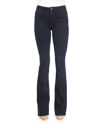 Marrakech Bodycon Flare-Leg Denim Jeans