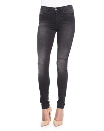 Bodycon Skinny-Leg Denim Jeans, Wick