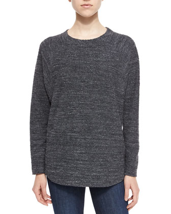 Textured Knit Long-Sleeve Top