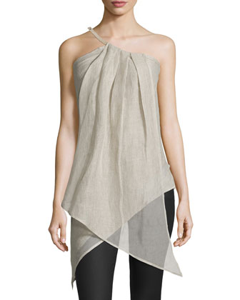One-Shoulder Asymmetric Top, Burlap