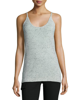 Donegal Speckled Cashmere Knit Camisole