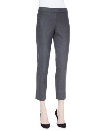 Wool-Blend Skinny Ankle Pants