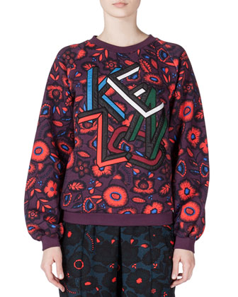Shadow Flower Kenzo Sweatshirt, Prune
