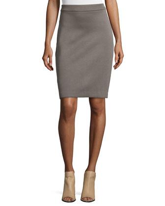 Bonded Jersey Pencil Skirt
