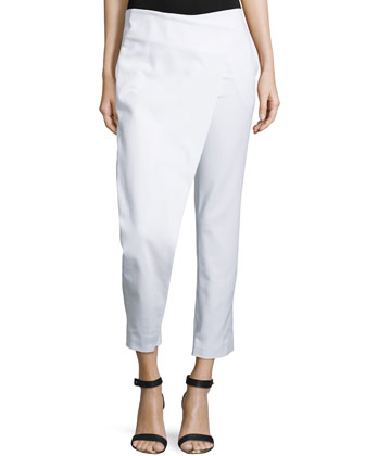 Compact Crossover Cropped Pants, Optic