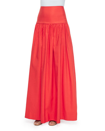 Fran Ruffle-Trim Lace Crop Top & Musan High-Waist Maxi Skirt