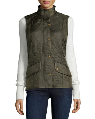 Cavalry Polar Diamond-Quilt Gilet Vest with Fleece Lining