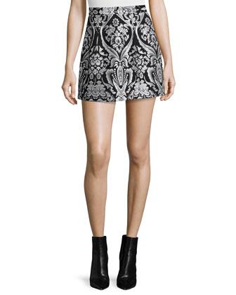 Rhona Sleeveless Lace-Trim Chiffon Blouse & Loran Structured Floral Lantern ...