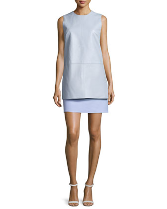 Double-Face Two-Piece Dress, Glacier