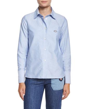 Oxford Button-Down Shirt, Blue