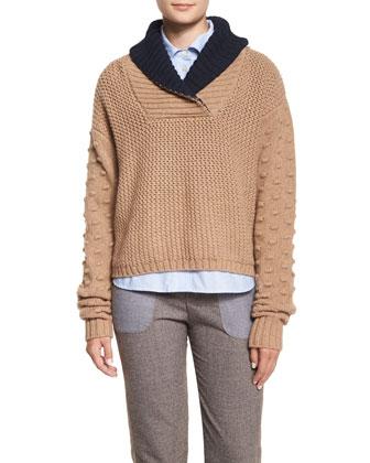 Fancy Stitch Shawl-Collar Sweater, Oxford Button-Down Shirt & Cool ...
