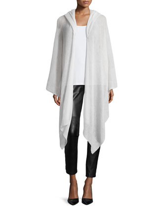 Fisher Project Airy Washed Cardigan Wrap & Sleeveless Deco Velvet Burnout ...