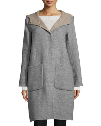 Alpaca Double-Face Knee-Length Coat