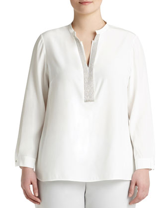 Dunham Blouse W/ Chain Detail, Women's