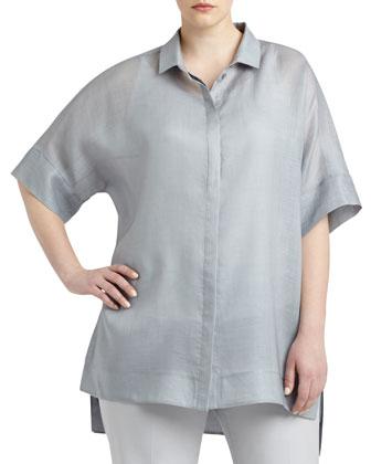 Andra Short-Sleeve Blouse, Women's