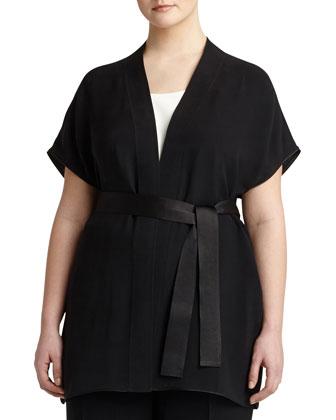 India Short-Sleeve Georgette Vest, Women's