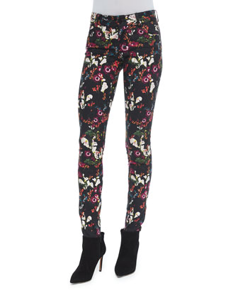 Garrison Cropped Mock-Neck Top & Jane Fall Garden Skinny Jeans