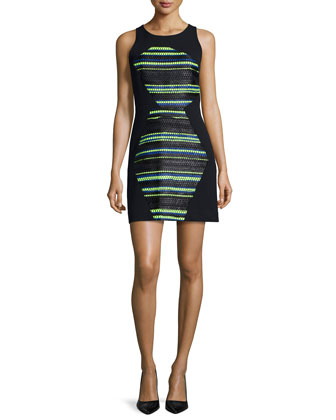 Couture Striped Shift Dress