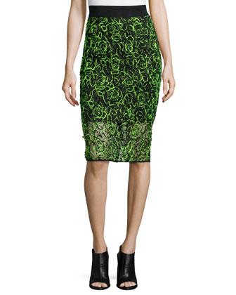 Neon Floret Webbing Skirt