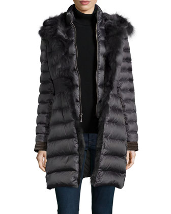 Donnie Fur-Trim 3-Way Puffer Coat