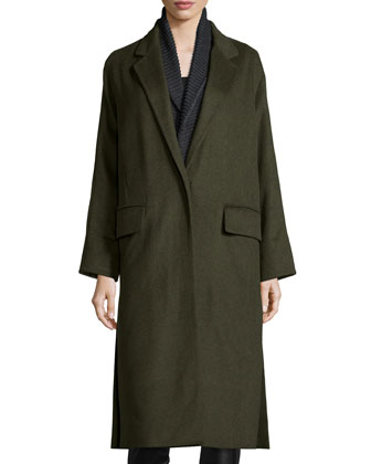 Renata Long Double-Face Coat W/ Vest