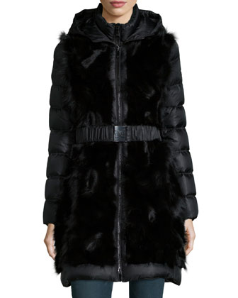 2 Taryn 2-in-1 Fox Fur Puffer Coat