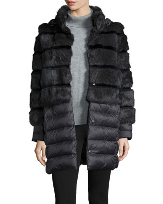 Tallula Convertible Puffer Coat W/ Fur