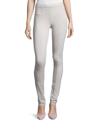Perfect Ponte Slim Pants, Silver Cloud