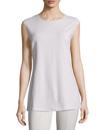 Perfect Layer Sleeveless Top, Silver Cloud, Petite