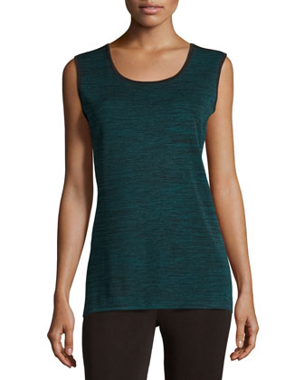 Melange Long Knit Tank, Women's