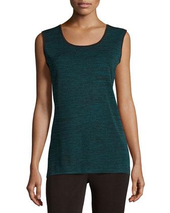 Melange Long Knit Tank, Women's