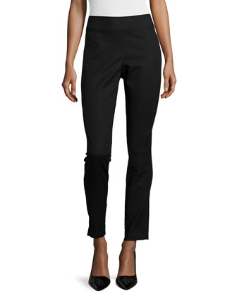 Skinny-Leg Riding Pants, Onyx