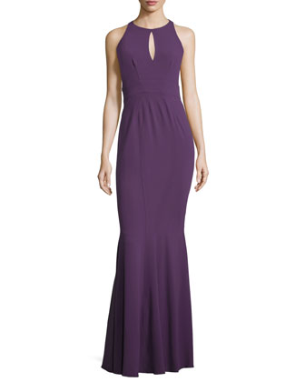 Sleeveless Mermaid Gown W/ Embellished Waist