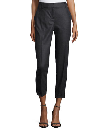 Twill Ankle Trousers