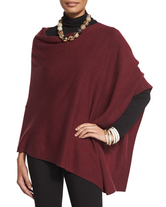 Cozy Wool Poncho, Women's