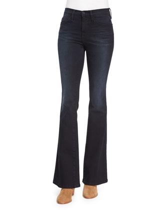 Le Duster Mid-Length Coat, Le Classic Dot-Print Silk Shirt & Le High ...