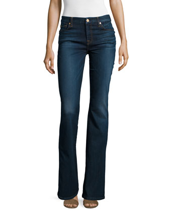 Kimmie Boot-Cut Slim Illusion Jeans, Tried & True Blue